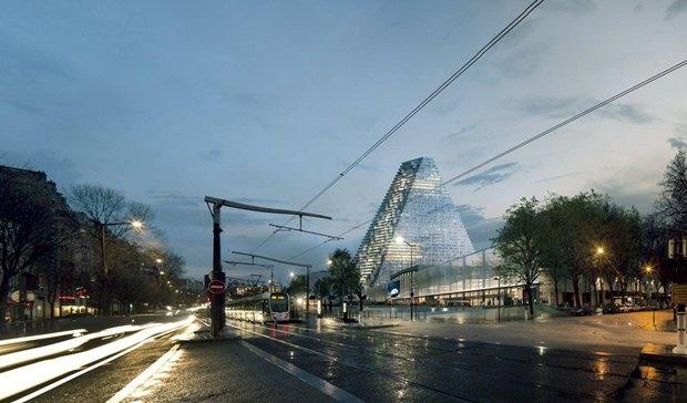 В Париже согласились строить небоскрёб-треугольник. Изображение № 5.