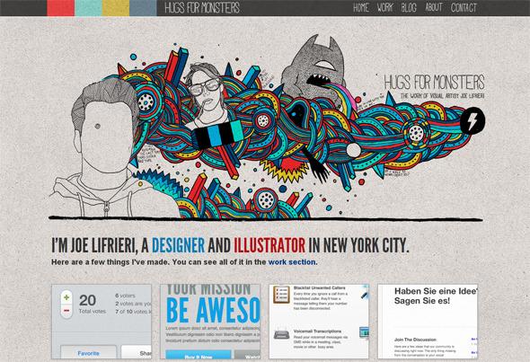 Ручная работа. Дизайн сайтов с рисованными элементами. Изображение № 22.