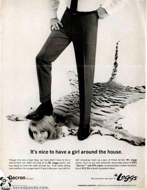 Винтажная реклама, которую запретили бы сегодня. Изображение № 11.