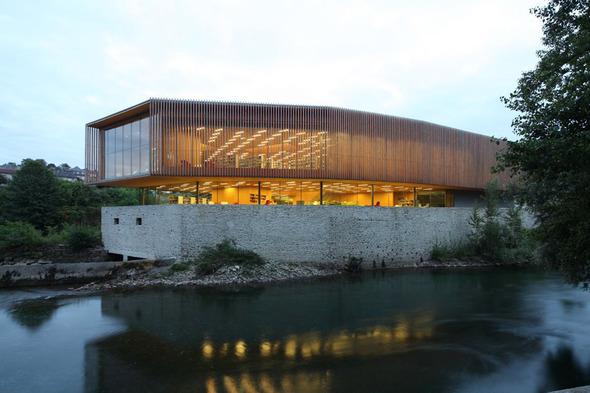 Мультимедийный центр Oloron-Sainte-Marie во Франции. Изображение № 1.