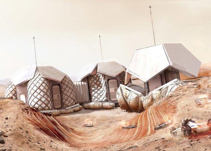 Архитекторы показали проект 3D-жилья для Марса . Изображение № 2.