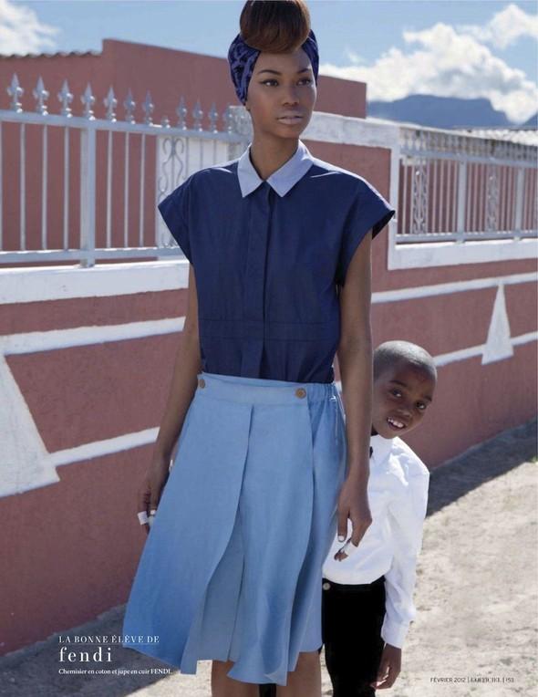 Съёмка: Шанель Иман для L'Officiel. Изображение № 11.