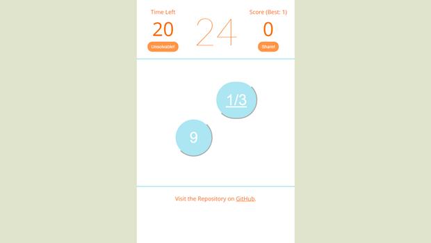 Ссылка дня: получите 24 за минуту с помощью 4 чисел и 4 действий. Изображение № 5.