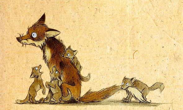 Забавные иллюстрации из жизни лисиц от Skia. Изображение № 3.