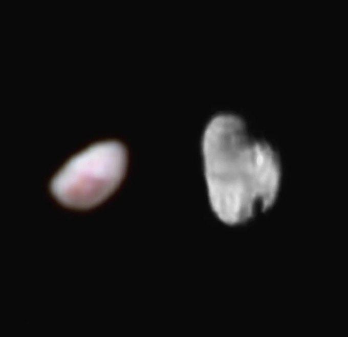 New Horizons передал новые снимки спутников Плутона . Изображение № 1.