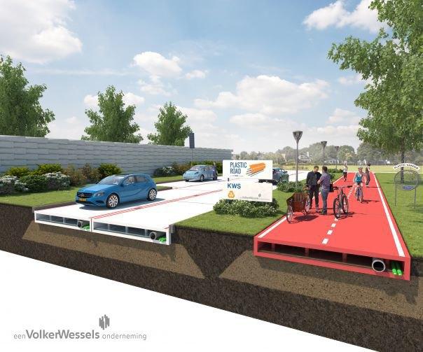 Компания предложила делать дороги из пластика . Изображение № 1.