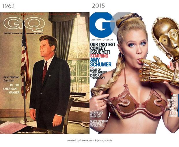Обложки журналов1900–1950-х сравнили ссовременными. Изображение № 7.