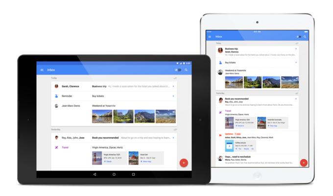 Google выпустил Inbox для планшетов и Firefoх. Изображение № 1.