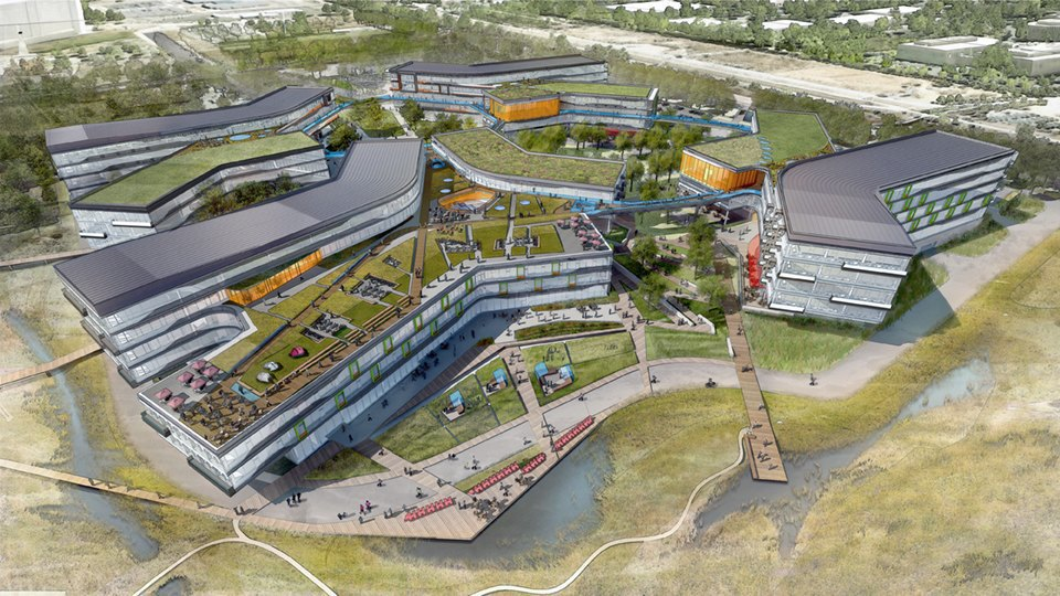 Как могли бы выглядеть города Apple, Google и Facebook. Изображение № 4.