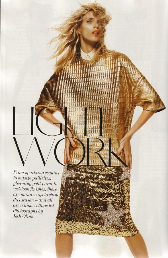 Съёмка: Аня Рубик для британского Vogue. Изображение № 1.