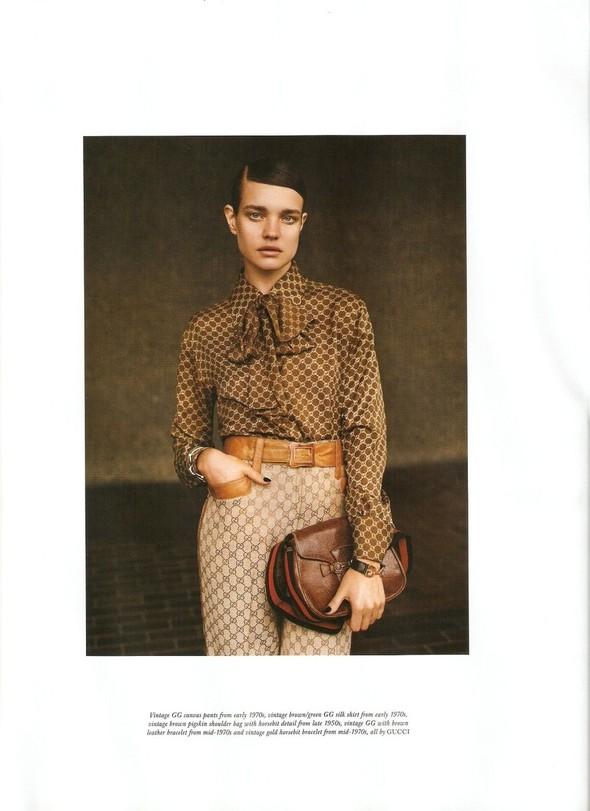 Съёмка: Наталья Водянова в Gucci для Love. Изображение № 6.