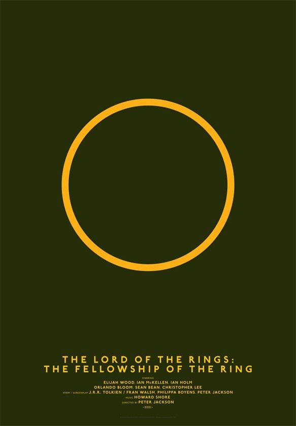 Дизайнер переделал постеры кинохитов в минималистском стиле. Изображение № 15.