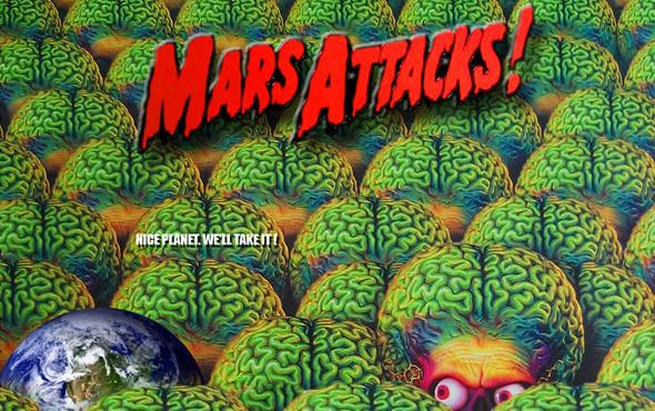 Мозговитая инопланетная нация. «Марс атакует»1996. Изображение № 47.