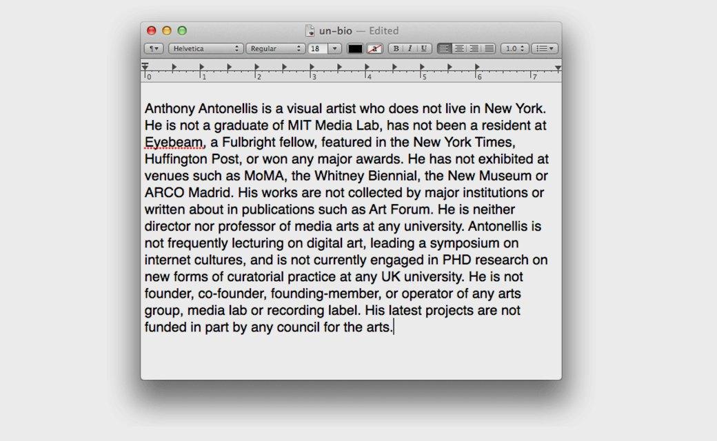 Anthony Antonellis. Изображение № 33.