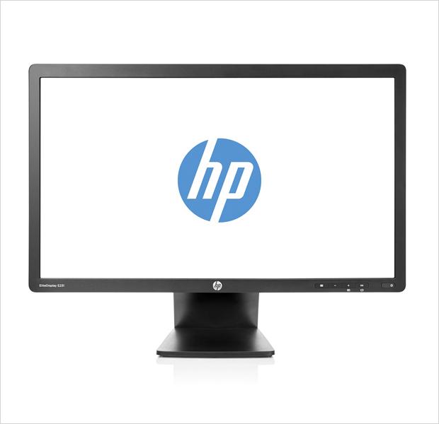 HP EliteDisplay E231 — 23-дюймовый TN-дисплей со светодиодной подсветкой, разрешением 1920 х 1080 пикселей и широким углом обзора Подключается к компьютеру с помощью разъемов VGA, DVI и DisplayPort, а также интегрированного концентратора USB.. Изображение № 7.