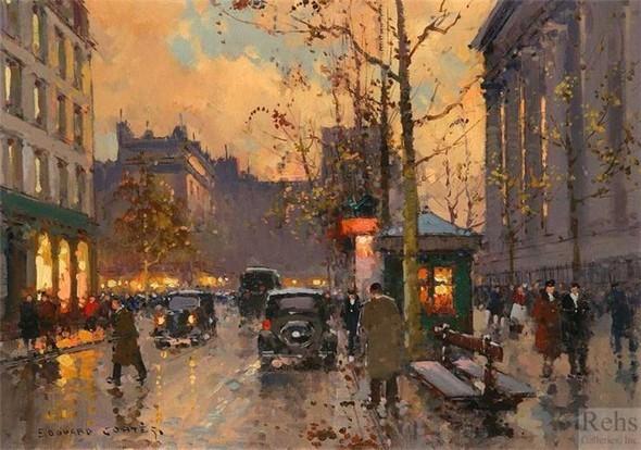 Эдуард Леон Кортес. Перенесёмся в Париж. Изображение № 12.