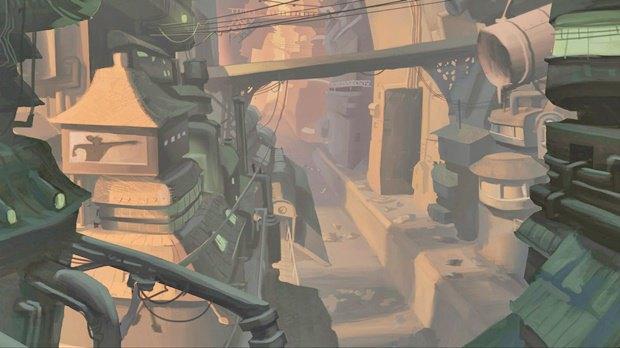Анимация: бродяга спасает пса встимпанковском городе. Изображение № 25.