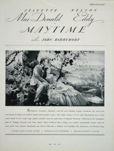 Maytime (1937) / Robert Z. Leonard / Jeanette MacDonald, Nelson Eddy and John Barrymore. Изображение № 26.