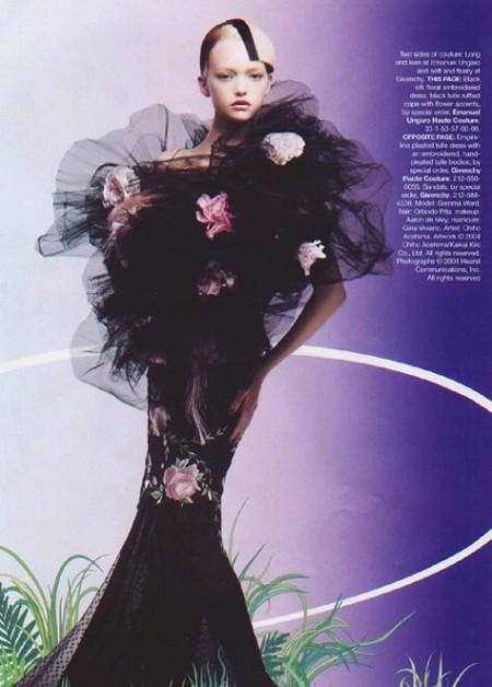 Архивная съёмка: Джемма Уорд для Harper's Bazaar, 2004. Изображение № 5.