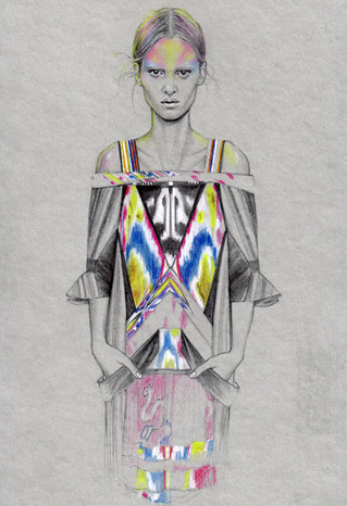 Fashion illustrations by Cedric Rivrian. Изображение № 1.