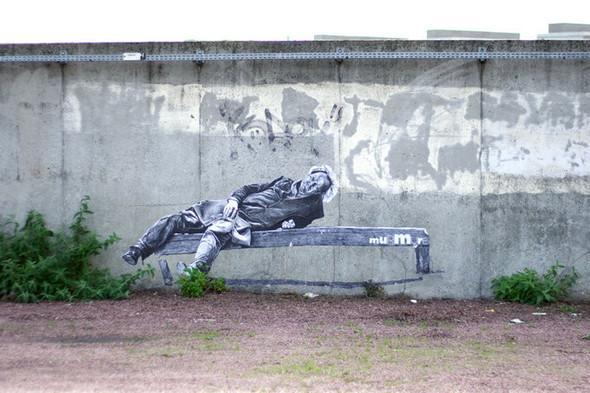Стрит-арт от французкой команды Murmure - Artisme. Изображение № 8.