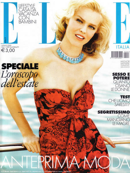EvaHerzigova, Elle Italy July 2009. Изображение № 1.