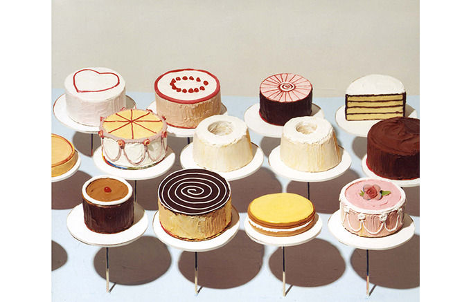 Wayne Thiebaud, Cakes, 1963 . Изображение № 4.