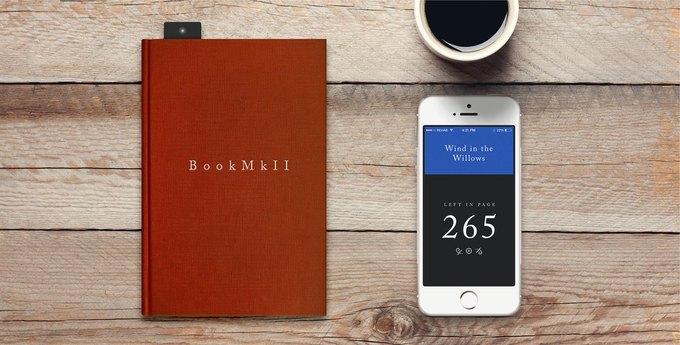 Закладка, передающая на смартфон информацию о прочитанном объеме книги. Изображение № 2.