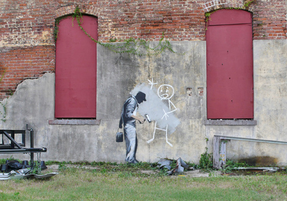 Изображение 18. Banksy (уличная мышь – герой).. Изображение № 18.