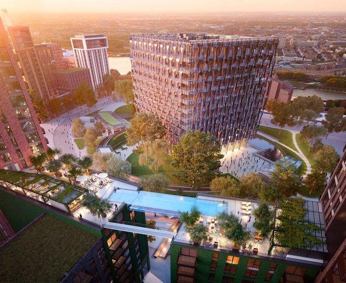 В Лондоне построят прозрачный бассейн между двух домов. Изображение № 2.