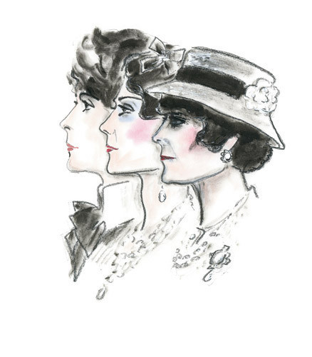 Иллюстрация Карла Лагерфельда к книге «Coco Chanel. Легенда и жизнь». Изображение № 4.