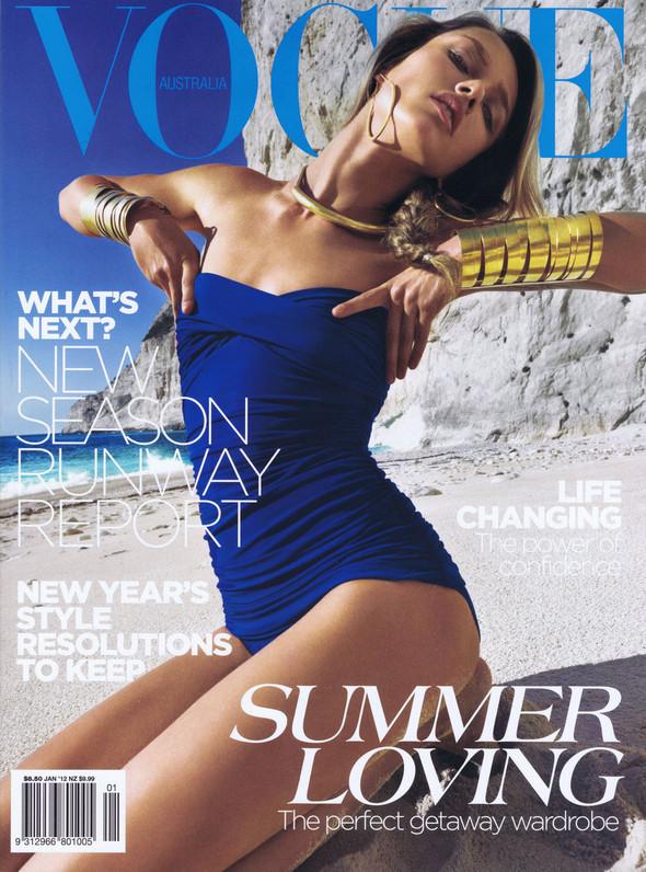 Обложки Vogue: Австралия и Португалия. Изображение № 1.