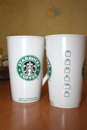 Изображение 1. Starbucks предлагает литровую порцию кофе.. Изображение № 1.