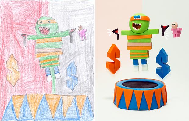 Художники создали монстров наоснове детских рисунков. Изображение № 17.