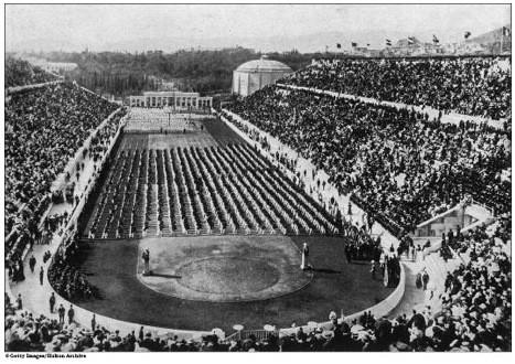 Открытие Олимпийских игр в Афинах. 1896 г.. Изображение № 3.