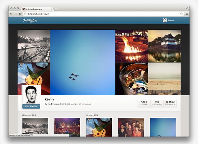 Instagram запускает веб-профили. Изображение № 1.