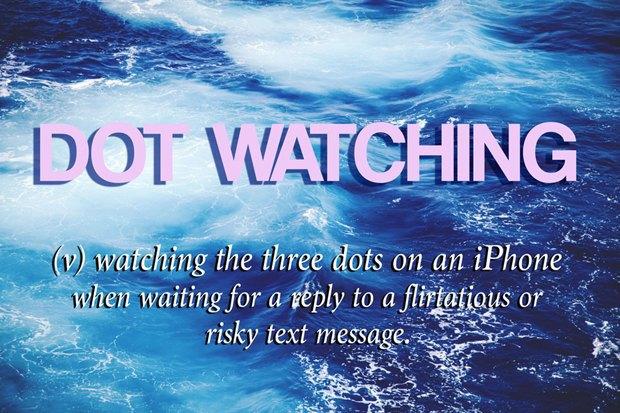 """«Смотреть на три точки [в диалоге] в ожидании ответа на флирт или """"рискованное"""" сообщение». Изображение № 1."""