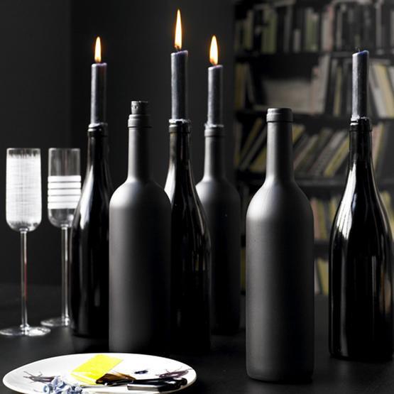 Новогодние украшения из винных бутылок. Изображение № 5.