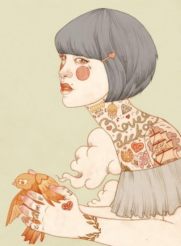 Карандашные рисунки художницы из Лондона Liz Clements.. Изображение № 7.