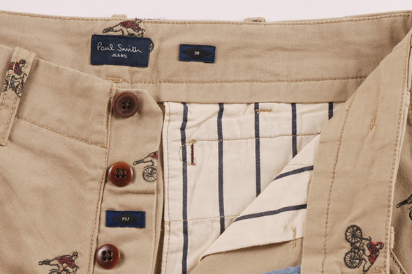 PAUL SMITH JEANS SS12 CYCLIST EMBROIDERED SHORTS. Изображение № 6.