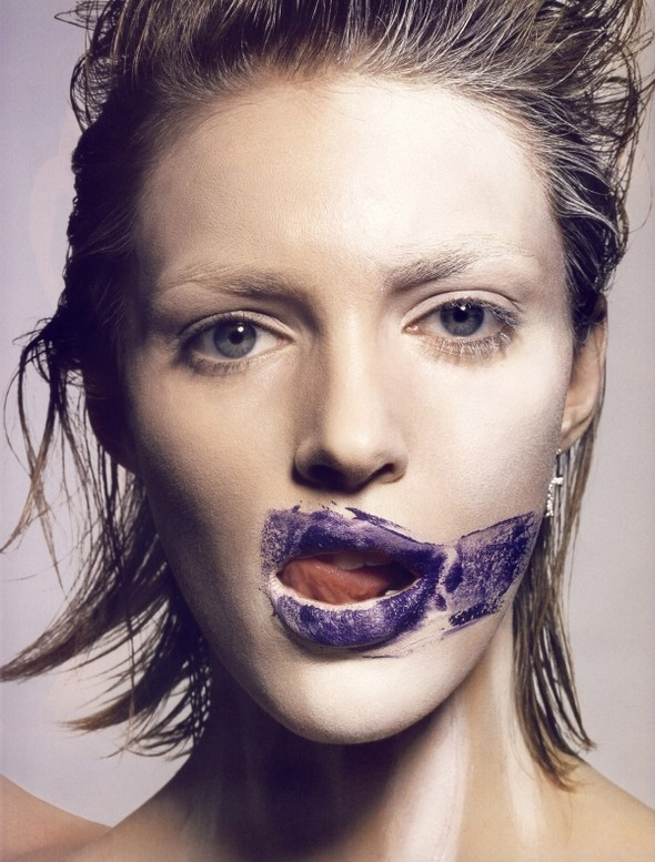 Anja Rubik for Vogue Paris (Beauty Editorial). Изображение № 5.