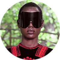 Кутюр в деталях: Маски, бисер и кожа в коллекции Givenchy. Изображение № 13.