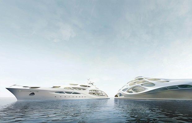 Заха Хадид разработала дизайн яхт Blohm+Voss. Изображение № 3.