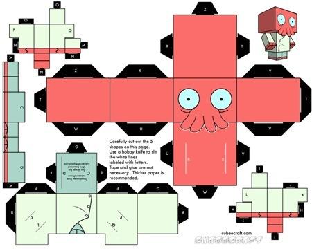 Cubeecraft бумажные герои своими руками. Изображение № 8.
