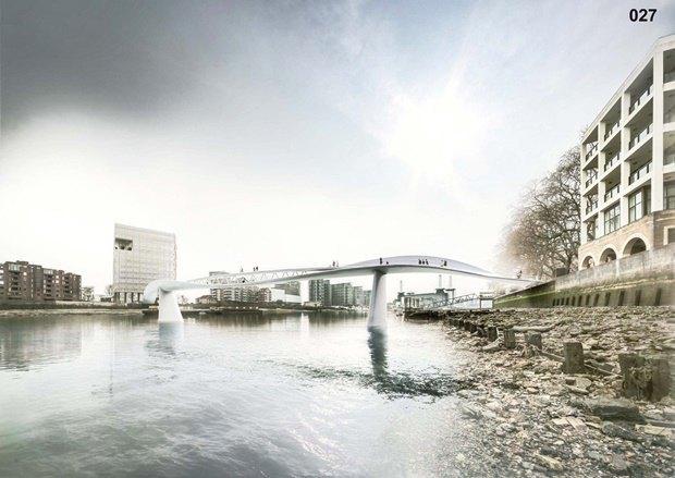 Выложены 74 проекта нового моста через Темзу. Изображение № 56.