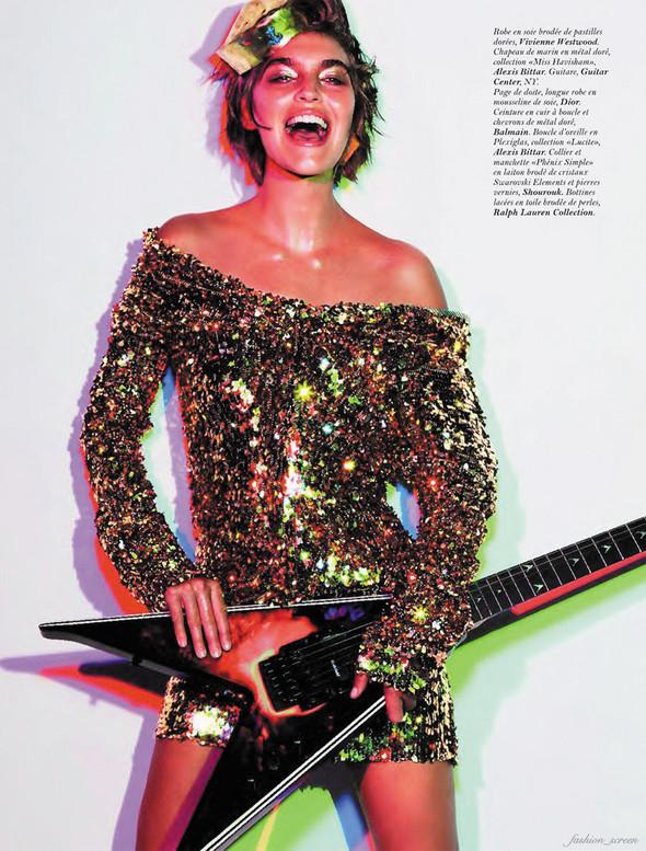 Съёмка: Аризона Мьюз для французского Vogue. Изображение № 8.