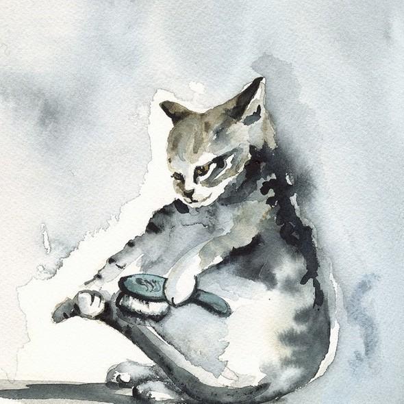 Изображение 20. Amber Alexander - животные, сияющие акварелью.. Изображение № 20.