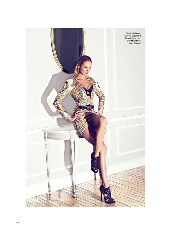 Съёмка: Кэндис Свейнпол для Harper's Bazaar. Изображение № 7.