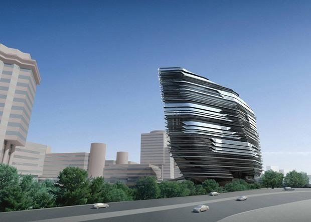 Заха Хадид проектирует университет дизайна в Гонконге. Изображение № 1.