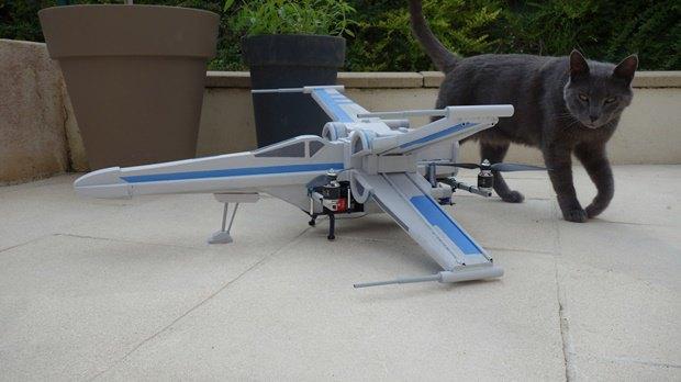 Энтузиаст собрал дрон в виде истребителя X-Wing. Изображение № 18.